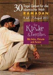 30 Tage Gebet 2013 - Spezialausgabe für Kinder und Familien
