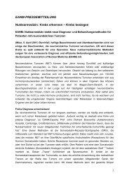 Krebs erkennen – Krebs besiegen - European Association of ...