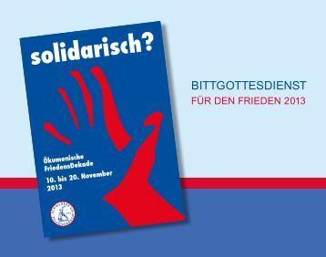 bittgottesdienst 2013.pdf - Evangelische Kirche in Deutschland