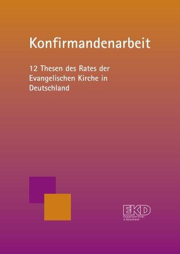 Konfirmandenarbeit - Evangelische Kirche in Deutschland