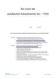 Katasteramtsverzeichnis nach Regierungsbezirken