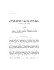 Elliptic sectors in surface theory and the Carathéodory-Loewner ...
