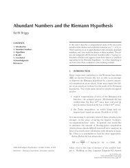 Abundant Numbers and the Riemann Hypothesis - Project Euclid