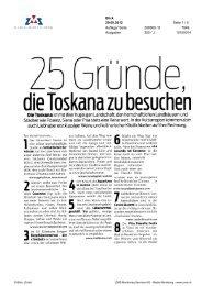 25 Gründe, die Toskana zu besuchen, Blick, 29. September ... - Enit