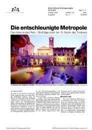 Die entschleunigte Metropole, Basler Zeitung, 28. Oktober 2012 - Enit