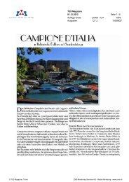 Campione d'Italia, TES Magazine, 1. Dezember 2012 - Enit