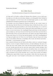 Der erfüllte Mensch - Eine biblische Geschichte als Metapher für das ...