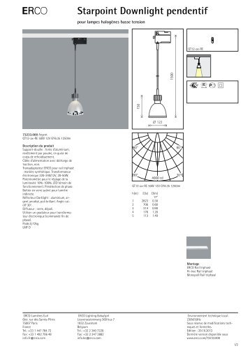 E Starpoint Downlight pendentif - Erco