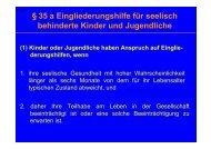 § 35 a Eingliederungshilfe für seelisch behinderte Kinder und ...