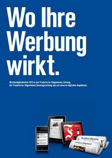 Wo Ihre Werbung Wirkt. - FAZ.net