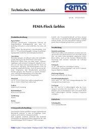 FEMA-Flock farblos - FEMA Farben + Putze GmbH