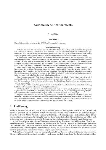 Automatische Softwaretests