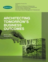Architecting tomorrow's Business outcomes - Forrester Research