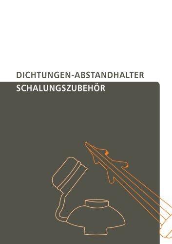 Dichtungen-AbstAnDhAlter schAlungszubehör
