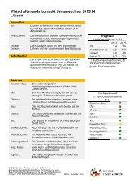 Wirtschaftstrends kompakt Jahreswechsel 2013/14 - Germany Trade ...