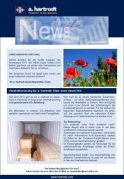 Newsletter 02/2013 - a. hartrodt