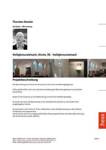 Thorsten Kessler Heiligkreuzsteinach, Kirche, DE ... - Hess AG