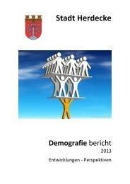 Demografische Entwicklung in Herdecke - Stadt Herdecke