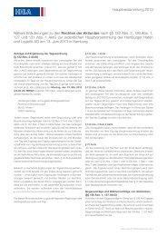 Nähere Erläuterungen zu den Rechten der Aktionäre nach ... - HHLA