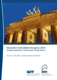 Deutscher Immobilien Kongress 2013 Standort bestimmen. Trends ...