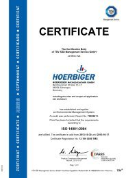 ISO 14001 - Hoerbiger