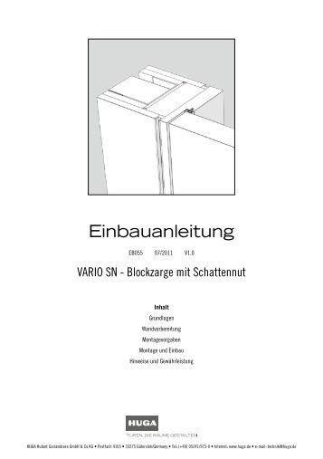 EB055 VARIO SN Blockzarge mit Schattennut - Huga