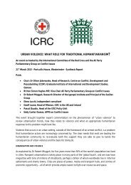 full PDF report here - ICRC