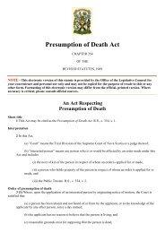 Presumption of Death Act, Nova Scotia.pdf - ICRC