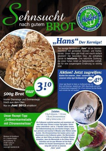 ehnsucht - Bäckerei & Konditorei Holste