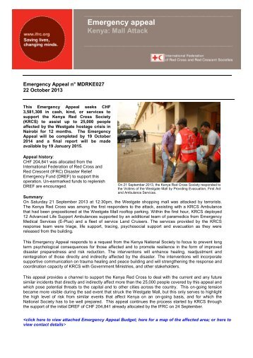 MDRKE027 - International Federation of Red Cross and Red ...