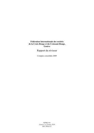 Rapport de l'organe de révision sur les comptes consolidés - IFRS