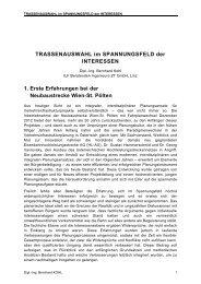 TRASSENAUSWAHL im SPANNUNGSFELD der INTERESSEN