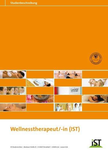 Wellnesstherapeut/-in (IST) - IST-Studieninstitut