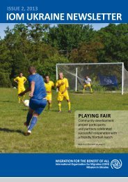 IOM Ukraine Newsletter ISSUE 2, 2013 - International Organization ...