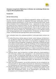 Kurzbericht zum Projekt Akzeptanz energetischer Maßnahmen im ...