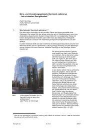 Bürogebäude thermisch optimieren - bei minimalem Energiebedarf