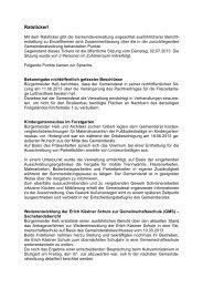 Ratsticker! - Gemeinde Kronau
