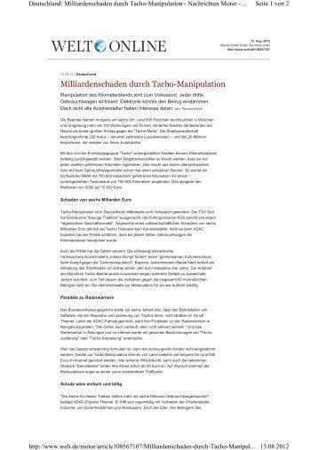 welt.de, 12.08.2012 - KÜS