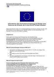Informationsblatt für Rentner - Gemeinsame Einrichtung KVG