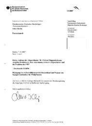 Antwort der Bundesregierung auf die Kleine Anfrage 16/6850 ...
