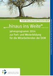Fortbildungsprogramm 2014 - Evangelische Kirche in ...