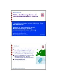 Beispiele der Maßnahmen aus dem Maßnahmenprogramm