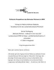 Politische Perspektiven des Betreuten Wohnens in NRW Vortrag ...