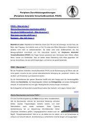 Periphere Durchblutungsstörungen (Periphere Arterielle ...