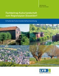 Fachbeitrag Kulturlandschaft zum Regionalplan Düsseldorf