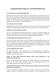 """Häufig gestellte Fragen zur """"Einsatzüberlieferung"""""""