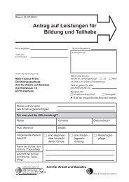 Antrag auf Leistungen für Bildung und Teilhabe - Main-Taunus-Kreis