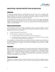 INDUSTRIAL DESIGN PROTECTION IN MALAYSIA