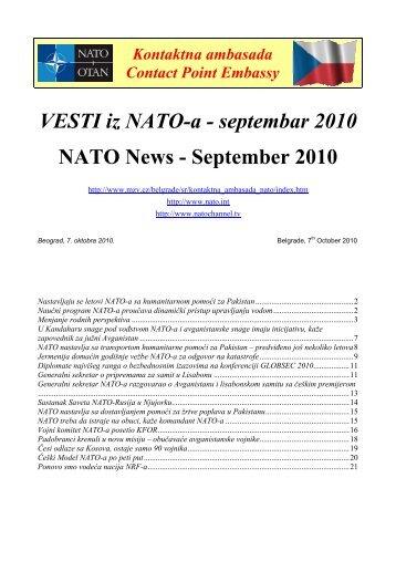 VESTI iz NATO-a - septembar 2010 NATO News - September 2010