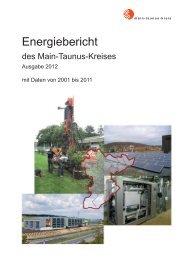 Energiebericht 2012 - Main-Taunus-Kreis